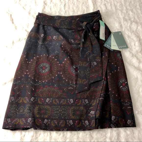 Clothing, Shoes & Accessories Nwt Stitch Fix Lysse Small Faux Wrap Floral Skirt Skirts